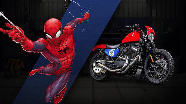 Spider-man, Iron 883 (Sportster) – Phil's Garage (NSW) and Canberra H-D (ACT)