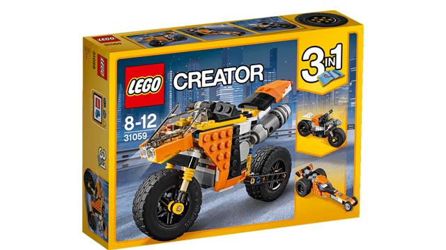 Lego moto orange